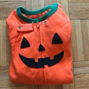 Pumpkin Footie pajama